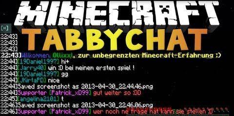 TabbyChat для Minecraft 1.8