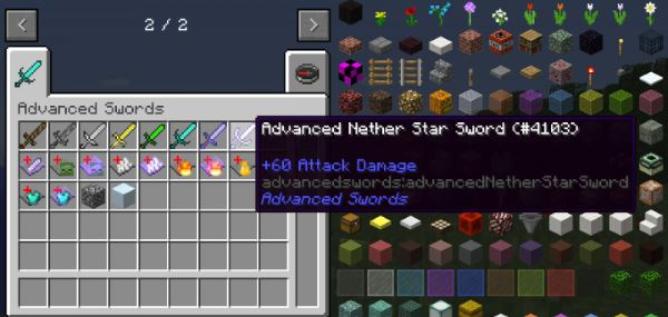 Advanced Swords для Minecraft 1.9.4