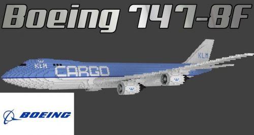 Boeing 747-8F для Minecraft 1.8