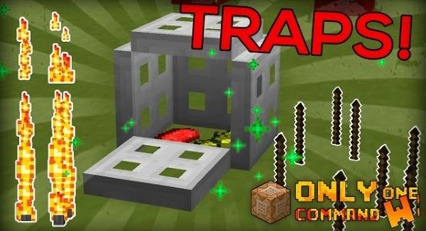 Traps Command Block by Cimap для Minecraft 1.10
