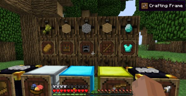 Super Crafting Frame для Minecraft 1.9.4