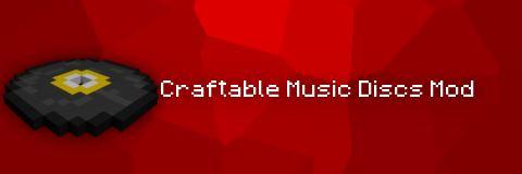Craftable Music Discs для Minecraft 1.9.4