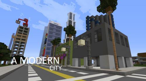 Modern city для Minecraft 1.8.2