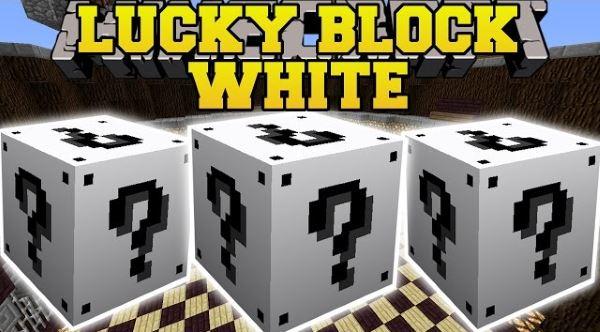 Lucky Block White для Minecraft 1.7.10