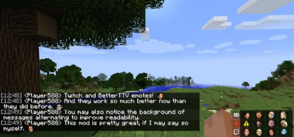 BetterMinecraftChat для Minecraft 1.10
