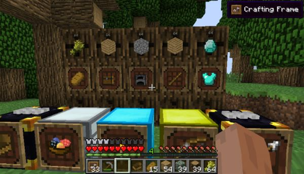 Super Crafting Frame для Minecraft 1.10