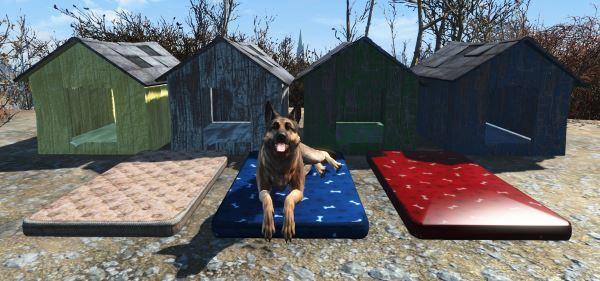 Кровати + лежаки для псины v 2.0 для Fallout 4