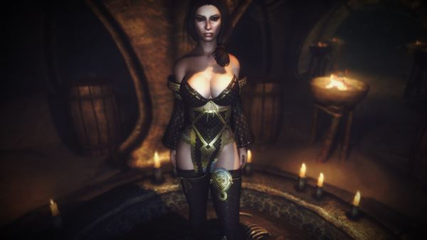 Dragon Lilly - CBBE / Драконья лилия для TES V: Skyrim