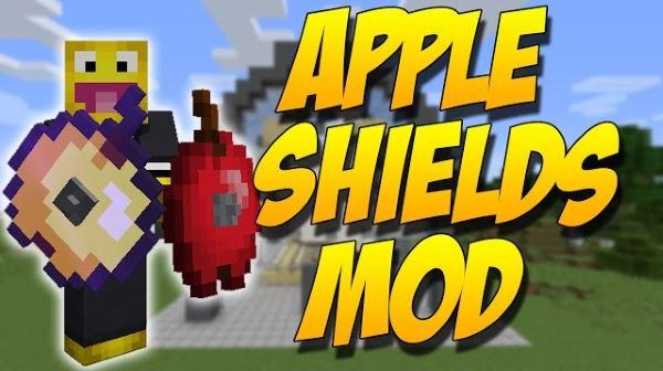 Apple Shields для Майнкрафт 1.10.2