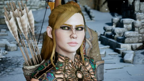 Long pulled back hair variants для Dragon Age: Inquisition