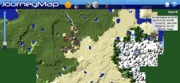 JourneyMap для Майнкрафт 1.10.2