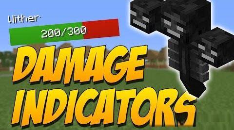 Damage Indicators by ToroCraft для Майнкрафт 1.10.2