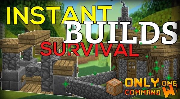 Instant Survival Buildings для Майнкрафт 1.10.2