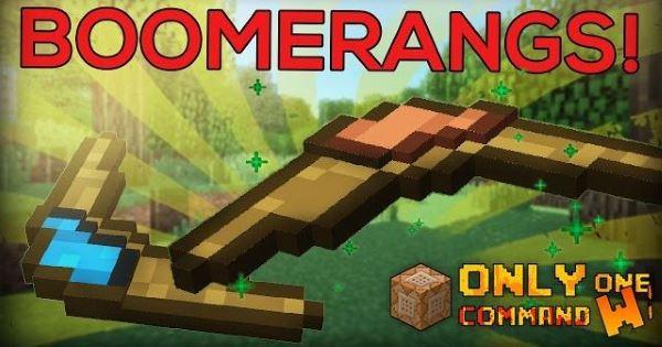 Boomerangs для Майнкрафт 1.10.2