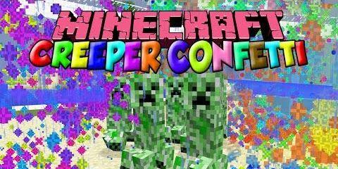 Creeper Confetti для Майнкрафт 1.10.2