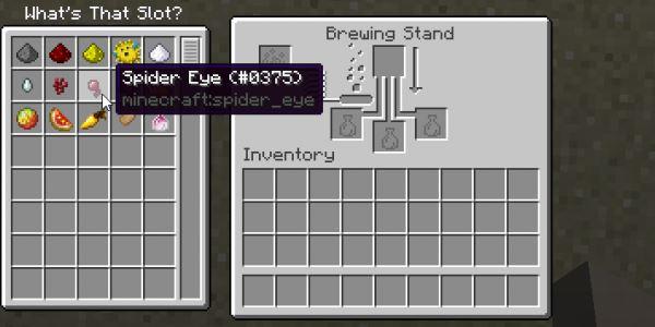 What's That Slot? для Майнкрафт 1.10.2