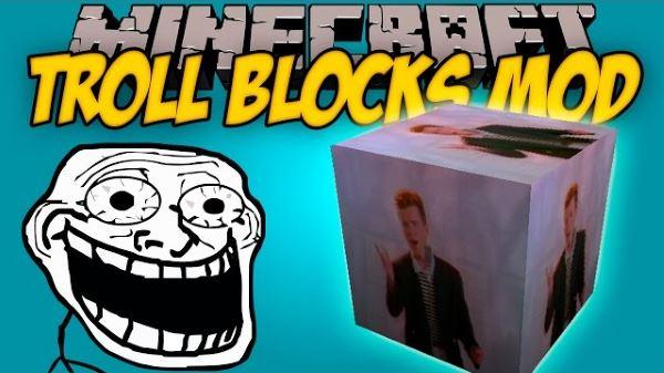 Troll Blocks для Майнкрафт 1.7.10