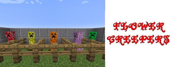 Flower Creepers для Майнкрафт 1.10.2
