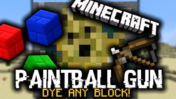 Paintball Guns для Майнкрафт 1.8.9