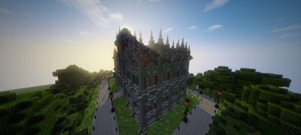 Small Victorian Town Hall для Майнкрафт 1.10.2