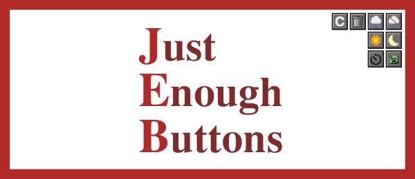 Just Enough Buttons для Майнкрафт 1.10.2