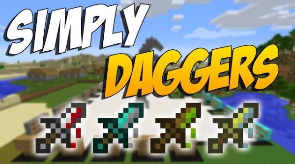 Simply Daggers для Майнкрафт 1.7.10