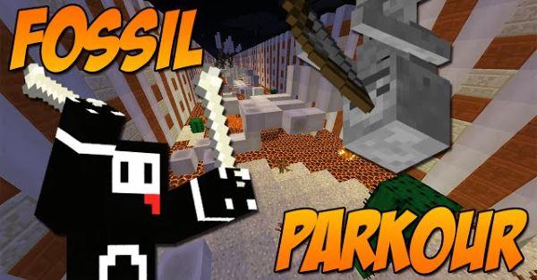 Fossil Parkour для Майнкрафт 1.10.2