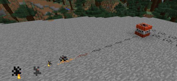 Placeable Gunpowder для Майнкрафт 1.10.2