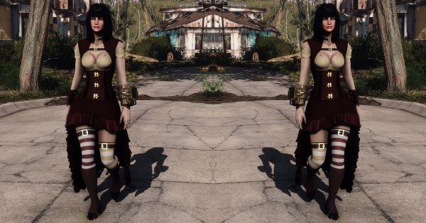 Ashara FO4 Steampunk Lady v 1.1 для Fallout 4