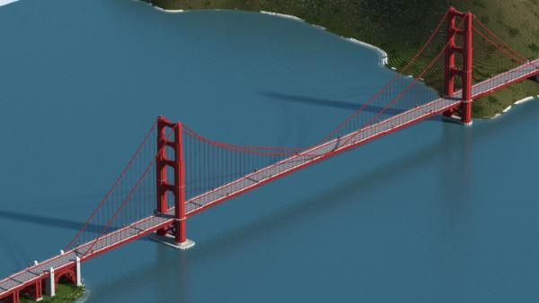 Golden Gate Bridge для Майнкрафт 1.10.2