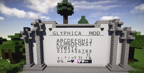 Glyphica для Майнкрафт 1.10.2