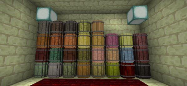 Simple Barrels для Майнкрафт 1.10.2
