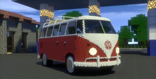 Volkswagen T1 Bus для Майнкрафт 1.10.2