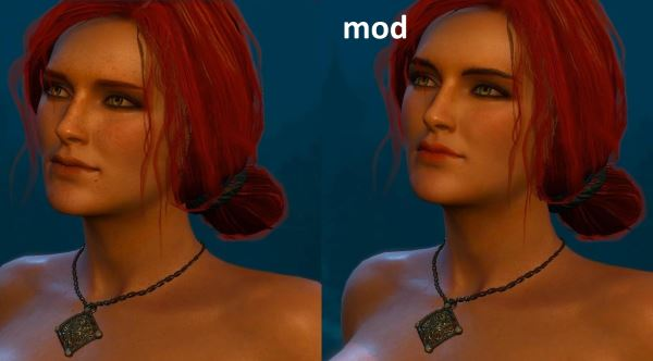 Triss New Makeup HD Eyes для Ведьмак 3