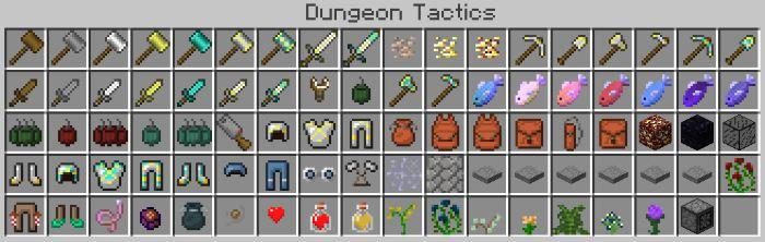 Dungeon Tactics для Майнкрафт 1.10.2