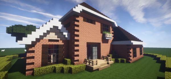 Brick House для Майнкрафт 1.10.2