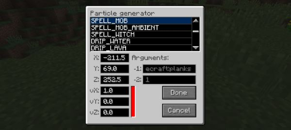Particle generator для Майнкрафт 1.10.2