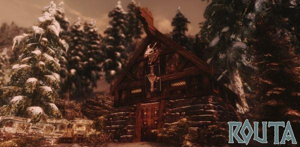 Routa - Stormcloak and Warrior cabin / Роута - Домик для воина для TES V: Skyrim