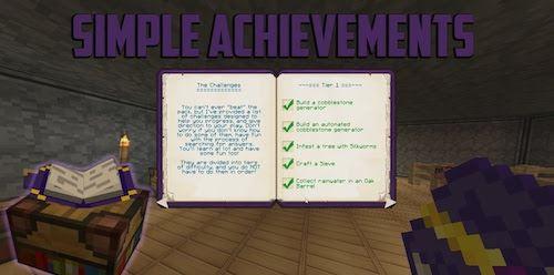 Simple Achievements для Майнкрафт 1.10.2