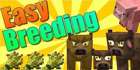 Easy Breeding для Майнкрафт 1.10.2