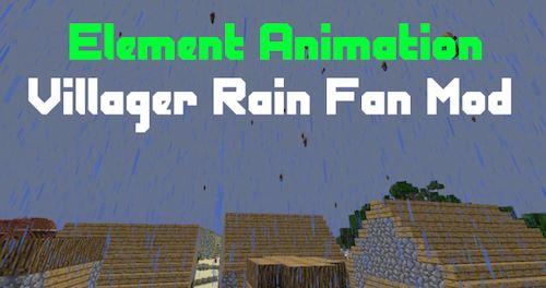 Villager Rain для Майнкрафт 1.10.2