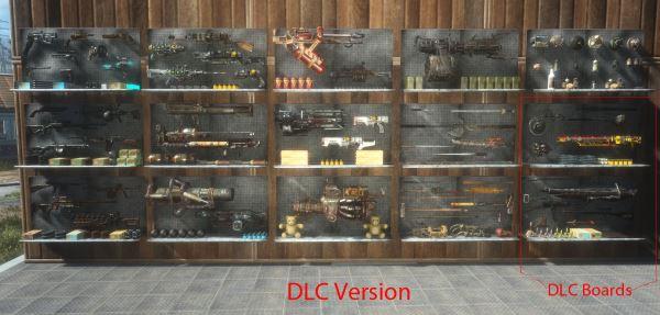 Стенды с оружием - Filled Weapon Displays для Fallout 4