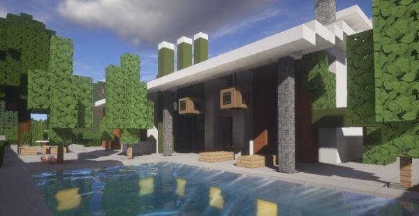Modern House 35x35 для Майнкрафт 1.10.2