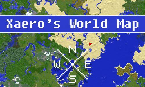 Xaero's World Map для Майнкрафт 1.10.2