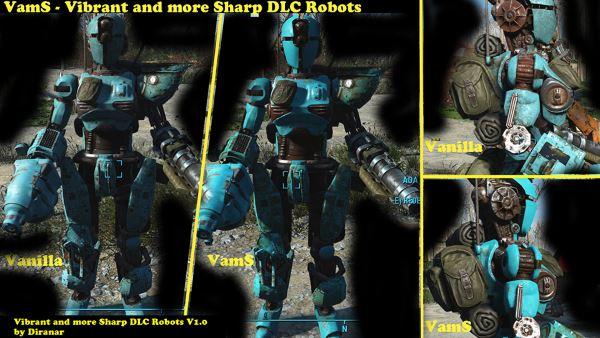 Ретекстур роботов в DLC Robots для Fallout 4