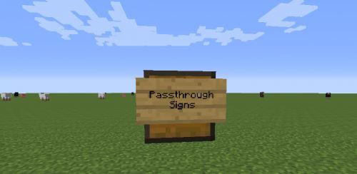 Passthrough Signs для Майнкрафт 1.10.2