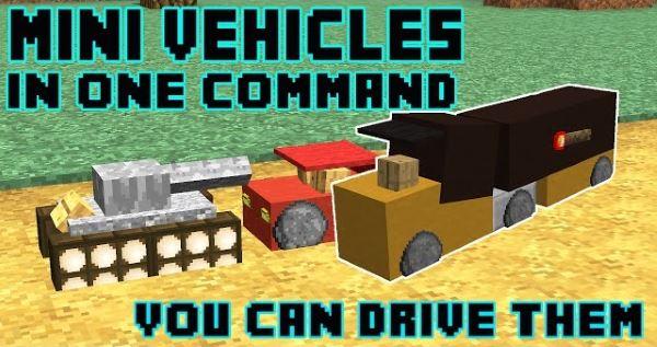 Mini Vehicles для Майнкрафт 1.10.2