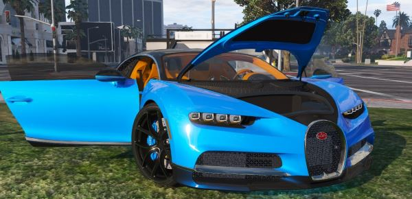 2017 Bugatti Chiron [Add-On / Replace | Auto Spoiler | HQ] для GTA 5