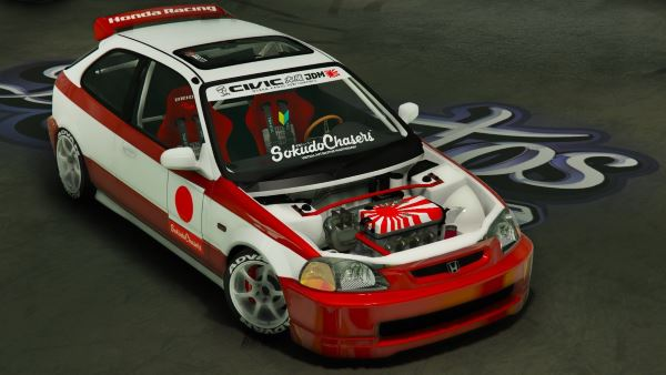 Honda Civic EK9 Kanjo Edition [Tuning | Template] для GTA 5