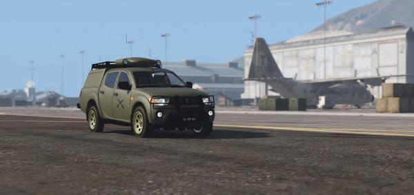 Portuguese Army Mitsubishi [Replace] для GTA 5